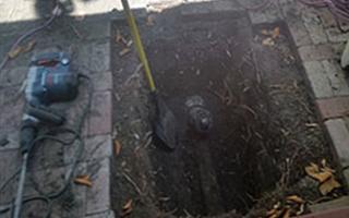 recent sewerline repair work